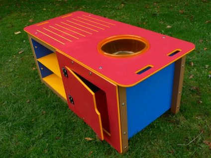 Outdoor Kitchen Play Sink Unit | Double size | Recycled Plastic HDPE